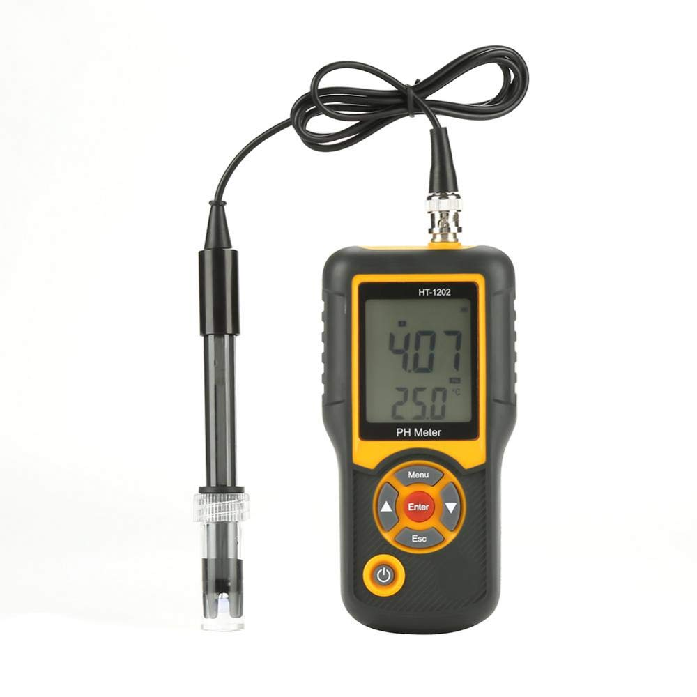 Ph-M/ètre Num/érique HT-1202 PH Testeur Num/érique Portable 0.01 Haute pr/écision Testeur du Eau pour Aquariums Hydroponie Piscines M/énages