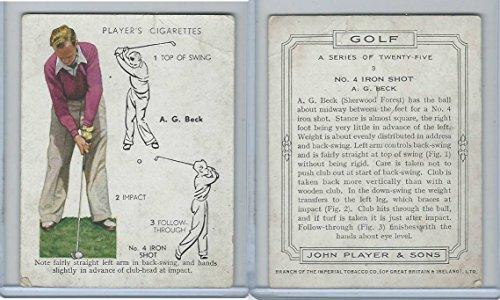Amazon com: P72-105 Player, Golf, 1939, 3 A G  Beck