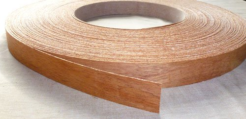 Pre Glued Iron on Sapele Wood Veneer Edging Tape, 22mm x 5metres *Free Postage, Fast Dispatch* Edgeband