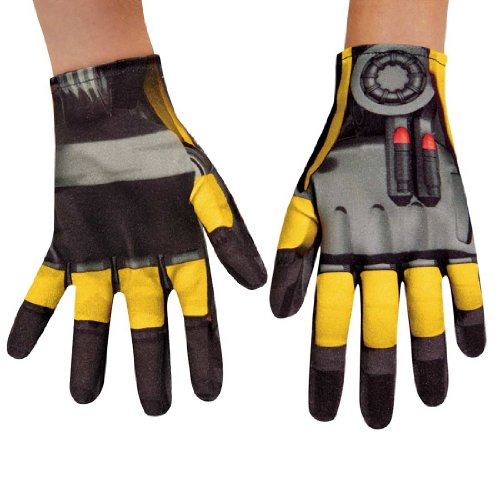 Disguise Hasbro Transformers Age of Extinction Movie Bumblebee Child Gloves, One Size Child (Transformers Age Of Extinction Bumblebee Toy)