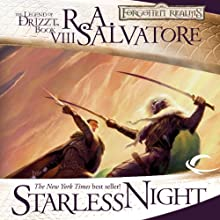 Starless Night: Legend of Drizzt: Legacy of the Drow, Book 2 Audiobook by R. A. Salvatore Narrated by Victor Bevine