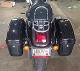 Black Hard Bag Saddle bag w/brackets for Harley Davidson...