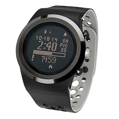 (LifeTrak Brite R450 Heart Rate Watch, Midnight Black/Titanium)