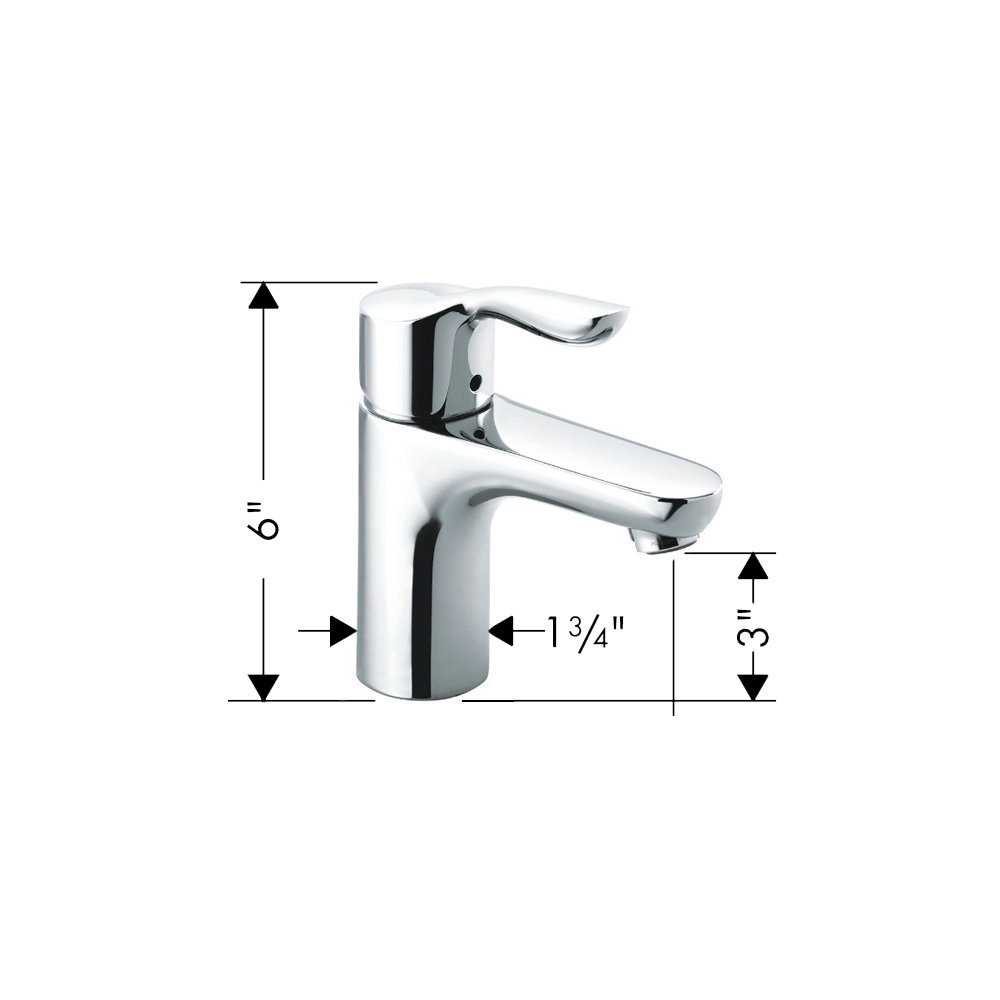 Brushed Nickel HG04167820 Hansgrohe 04167820 Solaris E Single-Hole Faucet