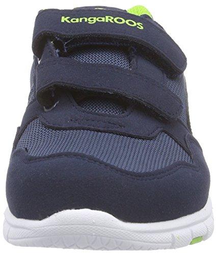KangaROOS BlueRun Squash -  Zapatos deportivos de material sintético para niños/niñas Multicolor (dk navy/lime 481)
