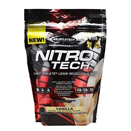 - MuscleTech Performance Series Nitro-Tech - Vanilla - 1 lbs (454g)