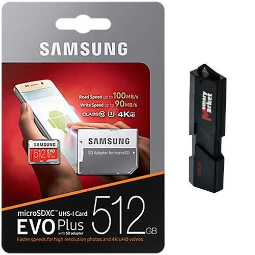 Samsung Evo Plus 512GB MicroSD XC 100MB/s UHS-I Memory Card for Samsung...