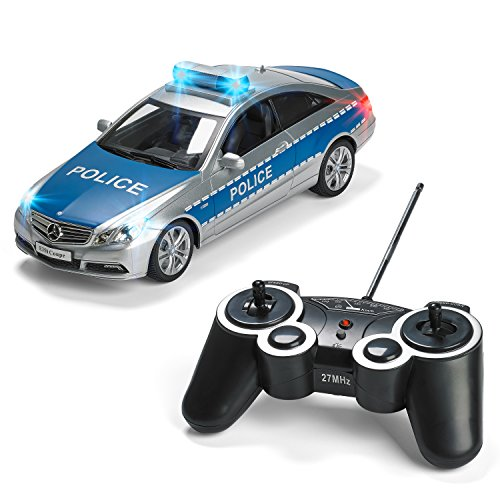 Mercedes RC Police Car Remote Control Police Car Radio Control Police Car Great Christmas Gift toys for boys Rc Car with Lights And Siren Best Christmas gift for 8-12 year old boys - Remote Control Items