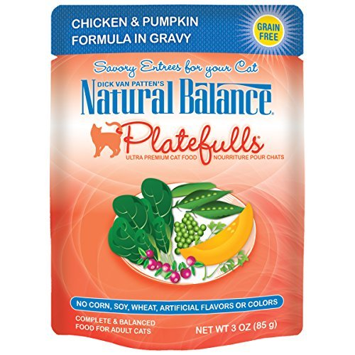 Dick Van Patten's Natural Balance Platefulls Chicken & Pumpkin Formula in Gravy Cat Food 3 oz by Natural Balance by Dick Van Patten's Natural Balance