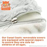 Sweet Seats | Gray Elephant Childrens Chair | Large Size | Machine Washable Cover