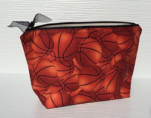 Basketball Makeup Bag for Women, Gift for Basketball Fan, Choice of Size, Makeup Bag for Basketball