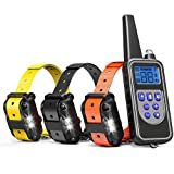 Cambond Dog Shock Collar for 3 Dogs, 3 Dog Training Collar with Remote 2600ft Range Waterproof Electronic Dog Collar for Medium and Large Dogs with 4 Training Modes Light Shock Vibration Beep
