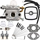 AUOPD PB-200 Carburetor Kit C1U-K78 for Echo PB200 PB201 ES210 ES211 Blower Tune-Up Kit Air Filter with Cleaning Tool Primer Bulb Fuel Lines Kit A021000942 A021000943 Shredder