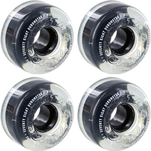 (Ricta Wheels Crystal Clouds Clear Skateboard Wheels - 56mm 78a (Set of 4) )