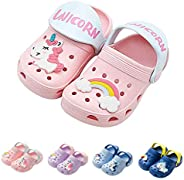 YWY Toddler Little Kids Clogs Slippers Sandals, Non-Slip Girls Boys Clogs Slide Lightweight Garden Shoes Slip-