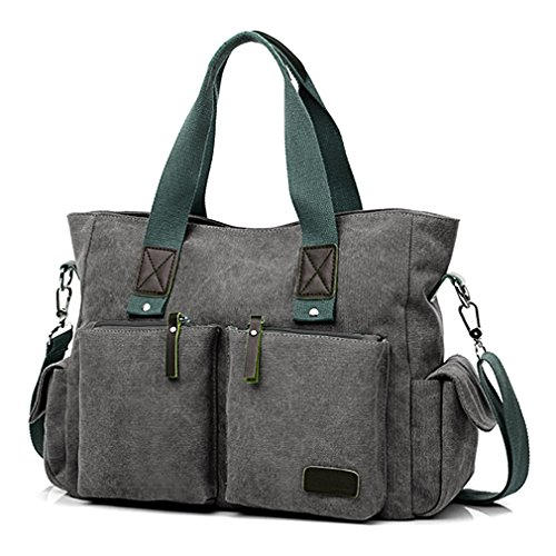 ToLFE Women Top Handle Satchel Handbags Shoulder Bag Messenger Tote Bag Purse Crossbody Bag (Tote Bag With Pockets)