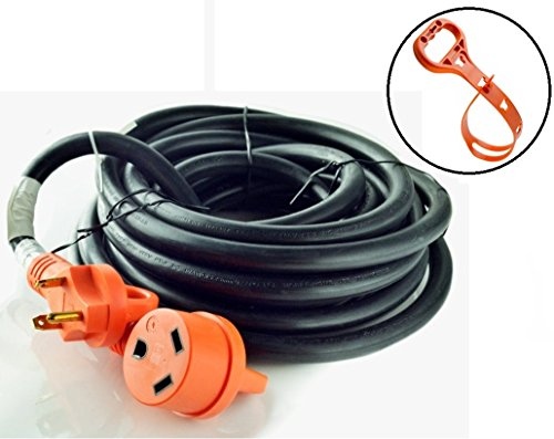(GoWISE Power RVC3004 50-Feet 30-Amp RV Extension cord with Handles- 30 Amp Male to 30 Amp Female)