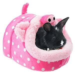 Bwogue Conejo Cobaya Hámster cama casa mascota para animales ...