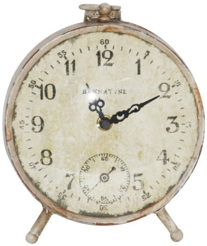 Zentique Paris Petit Clock - Table-top clock Weathered metal Package Dimensions: 9.906 H x 23.368 L x 23.368 W (centimetres) - clocks, bedroom-decor, bedroom - 51JwVHFdJhL -
