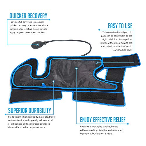 Bodyprox Ankle Ice Pack Injuries, Hot & Cold Air Compression Ankle Brace Support, Helps Stabilize Relieve Achilles Tendon Pain, Ankle Sprains, Arthritis, Joint Pain Sports Injury by Bodyprox (Image #3)
