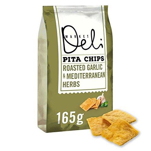 Walkers Market Deli Garlic & Herbs Pita Chips - 165g (0.36lbs)