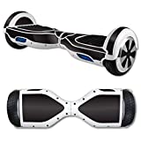 MightySkins Protective Vinyl Skin Decal for Hover Board Self Balancing Scooter mini 2 wheel x1 razor wrap cover sticker Solid Black