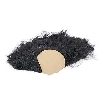 BESTOYARD Peluca Calva de Halloween Divertido Old Lady Pelucas Mascarada Suministros Peluca máscara de Cabeza Disfraz