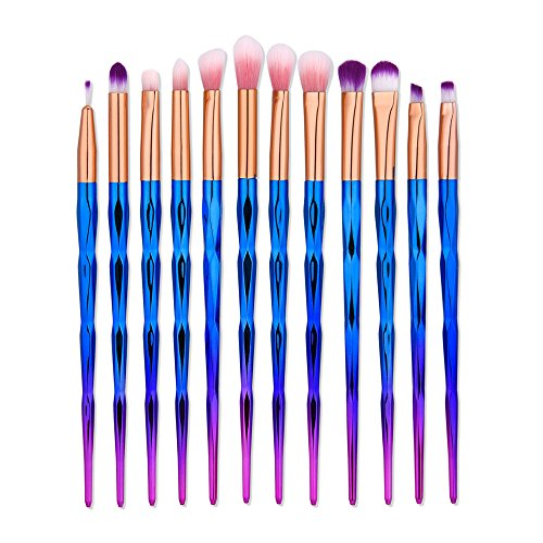 Tapered Crease Defining Brush - Eye Makeup Brushes Set,Malasiara 12pcs Make Up Eye Brush Eyeshadow Eyeliner Blending Crease Kit Unicorn Cosmetic Brush