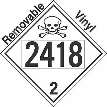 gc labels p332c2418 toxic gas class 2 3 un2418 removable vinyl dot OSHA Sample Label gc labels p332c2418 toxic gas class 2 3 un2418 removable vinyl dot placard package