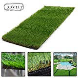 AGOOL 5.5'x6.5' Realistic Deluxe Artificial Grass Rug Synthetic Turf Thick Fake Carpet Lawn Area Mat Garden Doormat Indoor Outdoor Decoration, 5.5ft x 6.5ft=35.7 Square ft, Green