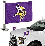 ProMark NFL Minnesota Vikings Flag Set 2-Piece Ambassador Style, Team Color, One Size (8162089917)