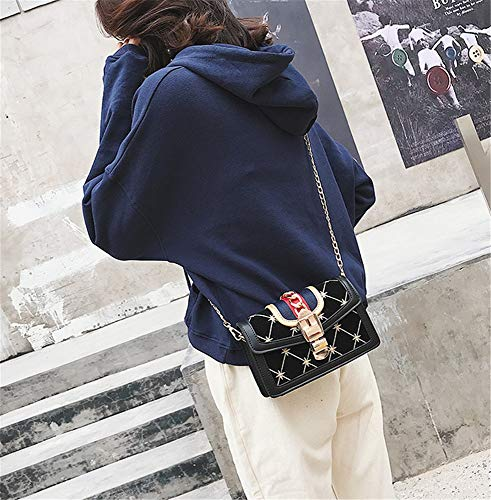 lampo nero singola sole da Sacchetti donna Borsa moda chiusura PU con di per Solo q6EccFOBW