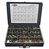 Grade 8 Hex Cap Bolts Screws, Nuts, Washers, Lock Washers Assortment Kit - 574 Pieces!