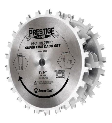 Amana Tool 658060-1 Prestige Super-Fine 8-Inch by 24 Tooth 1-Inch Bore Dado Set