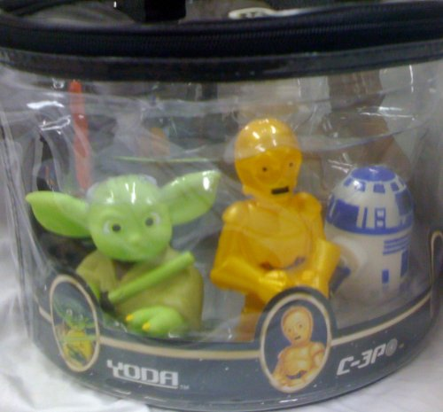 Disney Star Wars, Chewbacca, Clone Trooper, Boba Fett, Darth Vader, Yoda, C-3p, R2-d2 Bath Squeek Toys