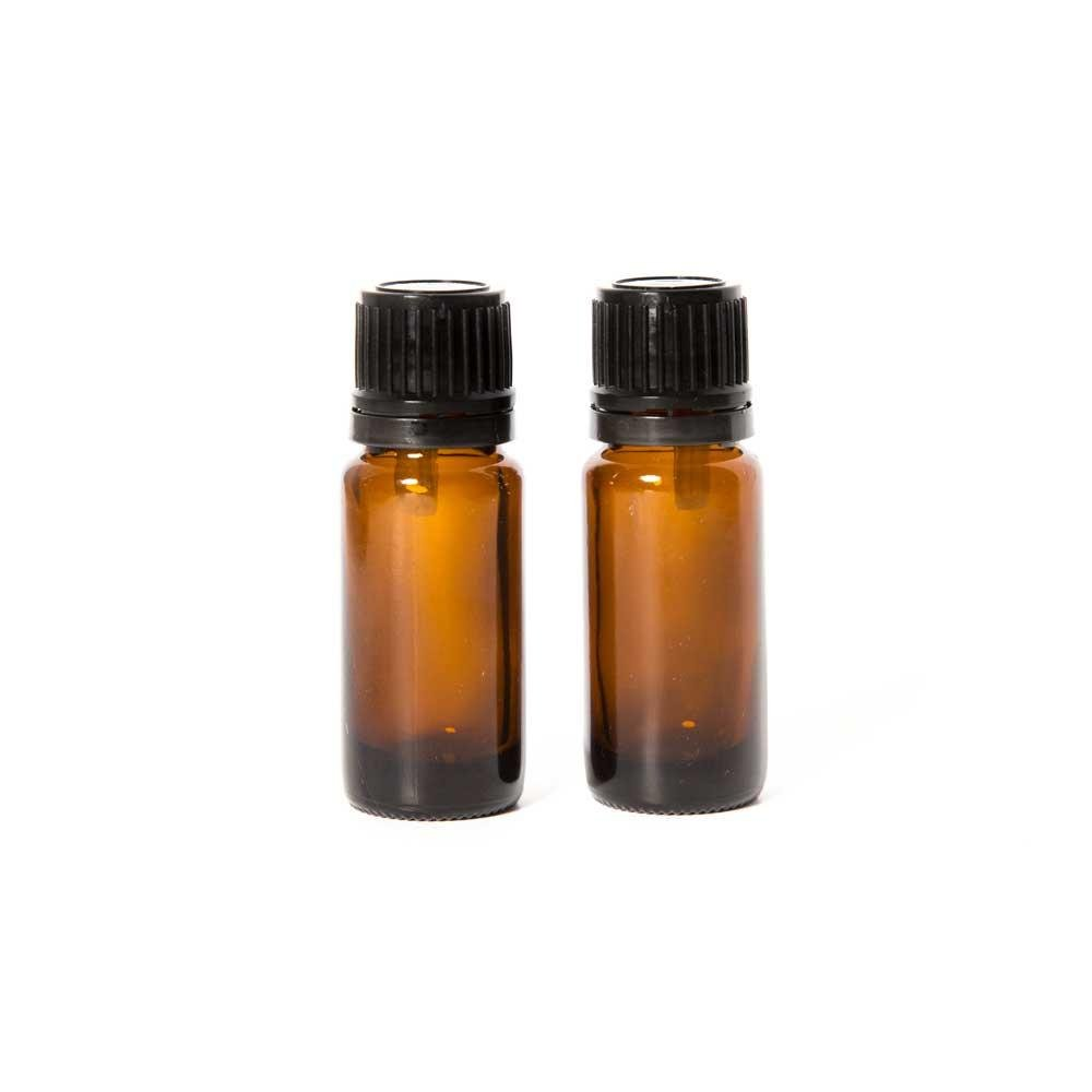 Edens Garden Empty Amber Glass Bottles for Essential Oils, 2 Pack- 10 ml