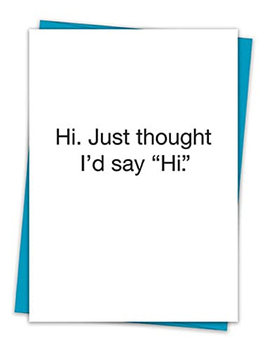 Amazon set of 6 greeting cards hi just thought id say hi set of 6 greeting cards hi just thought id say quothi m4hsunfo