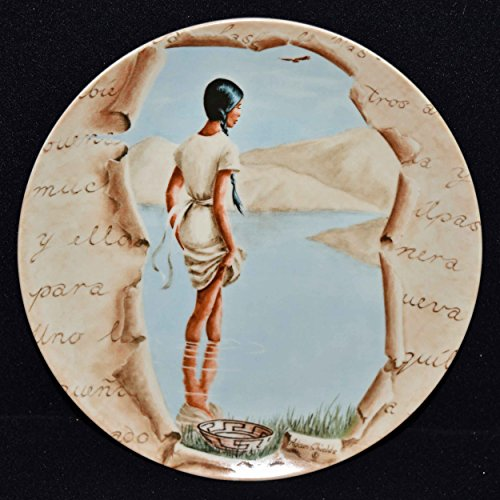 Adam Shields Autographed Collectors Plate - Southwestern Native American Woman A Love Story c1981 COA Story Nib Adams China China Plates