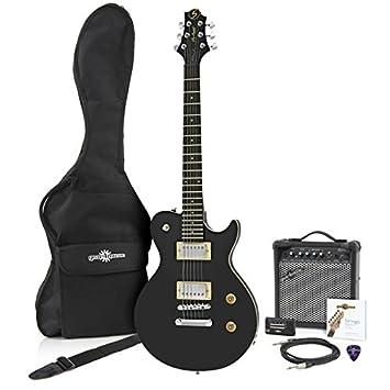 Greg Bennett Avion AV-1 Guitarra Eléctrica + Amplificador Negro ...