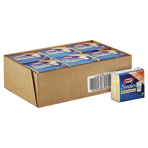 Kraft American Sliced White Cheese, 12 Ounce -- 12 per case. by Kraft (Image #1)
