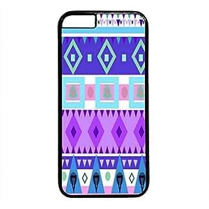 iPhone 5C Case, iCustomonline Blue Tribal Print Designs Soft TPU Case Cover for iPhone 5C Black