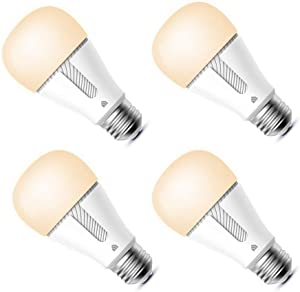 Kasa Smart Light Bulb, LED Smart Wi-Fi Bulb Compatible with Alexa and Google Home, A19 Dimmable, 2.4Ghz, No Hub Required, 800Lumens Soft White (2700K), 4-Pack