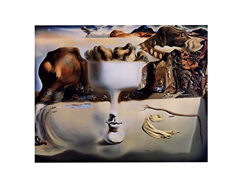Salvador Dali Dish - Apparition of Face and Fruit Dish on a Beach, c.1938 by Salvador Dali Art Print, 14 x 11 inches