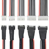 WGCD 5 PCS 2S 3S 4S 5S 6S LiPo Battery Balance Charger Extension Wire Cable JST XH Connector 200mm, 22AWG