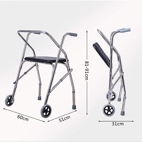 Accesorios para andadores con ruedas Andador Bastón De Cuatro ...