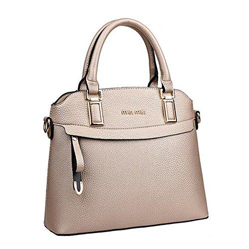 [VVeda European and American Fashion Female Handbag Portable Shoulder Messenger Bags£¨Gold£] (Dance Costumes Australia Suppliers)
