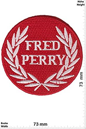 Parches - Fred Perry - red - Motorsport - Ralley - Car - Motorbike - Iron on Patch - Parche Termoadhesivos Bordado Apliques - Patch - Give Away Regalar