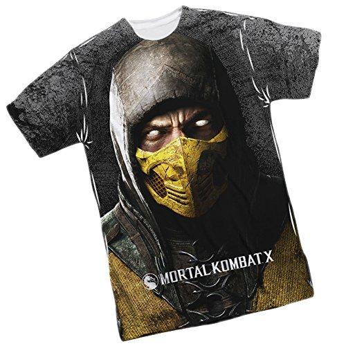 Scorpion -- Mortal Kombat X Front Print Sports Fabric T-Shirt, Large