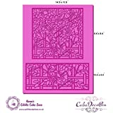 Cake Lace Mat - Stain Glass Effect Application - Suitable with Edible Glass Panel Mat (To be used with Isomalt) by Karens