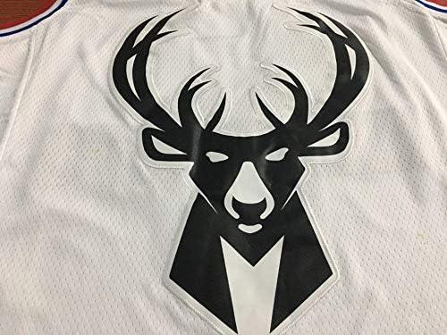YSAメンズバスケットボールウェア-サマーバスケットボールTシャツNBAバックス34#アンテトクンポファンエディションジャージクラシック刺繍ノースリーブベスト